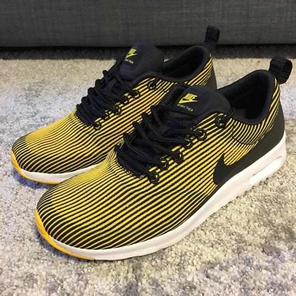 hot sale online 94e0b 88a21 Nike Air Max Thea Jacquard Yellow Blk sz 7.5. M 59beab1feaf0306b45083657