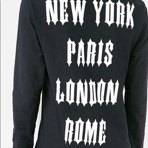 Urban outfitters major cities biker long sleeve