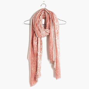 Madewell silk porcelain floral scarf