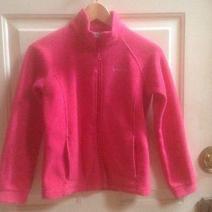 Columbia girls fleece jacket Sz M 10-12