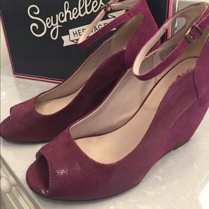 Seychelles Peep-toe Wedge with Ankle Strap