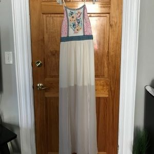 Summer Maxi dress with side slits on bottom