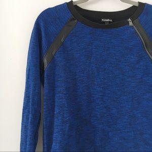 Like New Express Blue Sweatshirt w/ zipper X-Small