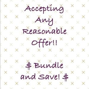 Bundle and save! Reasonable offers welcome