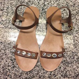 J.Crew jewel sandals