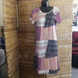 Vintage Polyester Patchwork Dress - Sally Ragdoll