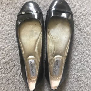 Jimmy Choo Metallic flat size 7