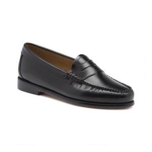 Bass Weejuns Black Leather Loafers