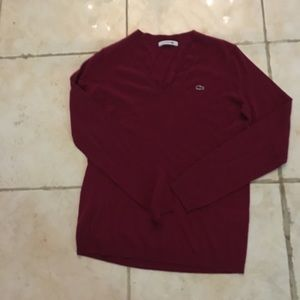 New Lacoste v neck sweater hurry
