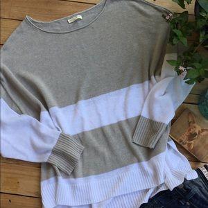 Eileen Fisher Tan/White Linen Sweater