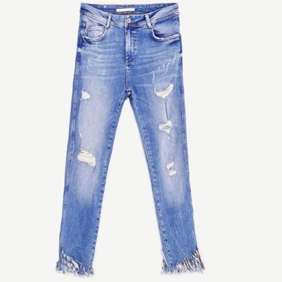 cdfdb6becd0de Zara Jeans Size Poshmark Frayed Denim Hem Trafaluc 4 rrwdvPq