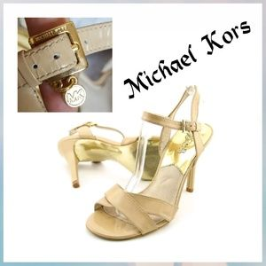 Michael Michael Kors nude leather Elise shoes