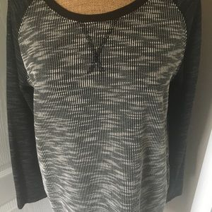 Merona Black & White Tunic.