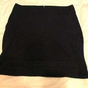 Cabi navy pencil skirt