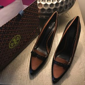 Tory Burch (brown and black) Heels Size 11