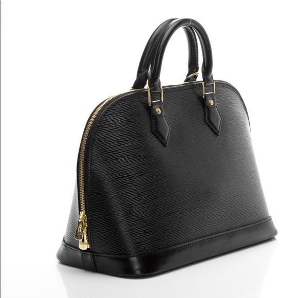 6ae558973 Louis Vuitton Bags | Alma Epi Black Leather Purse | Poshmark