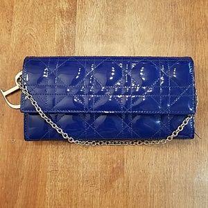 Handbags - Christian Dior navy blue wallet perfect condition