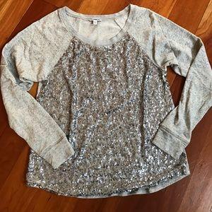 Express sequined sweatshirt
