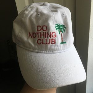Do Nothing Club Hat - White
