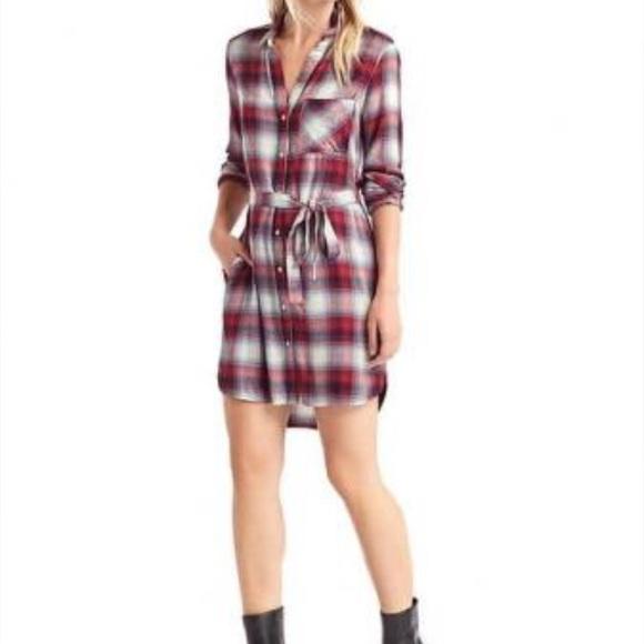 4edf58d3b7 GAP Dresses   Skirts - GAP Pendleton Shirt Dress