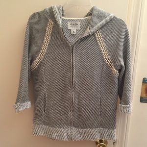 Lucky Brand gray zip up sweater