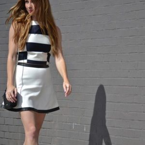Banana Republic Faux Leather Trim Skirt
