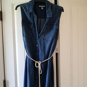 Maternity denim dress NWT