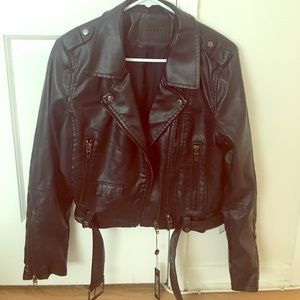 NWT BlankNYC Uninvited Faux Leather Moto Jacket