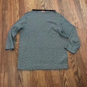 Joe Fresh Chevron Stripe 3/4 Mock Neck Sweater