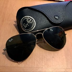 ebebdc7d0a Ray-Ban Accessories - Ray-Ban RB3025 Aviator Large Metal Sunglasses