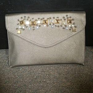 Handbags - New Spiked Designed Flap Clutch Shoulder Bag