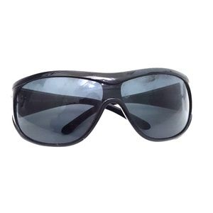 Versace wrap sunglasses.