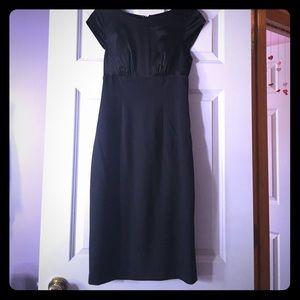 Black and Gray Sheath Dress