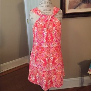 Kensie bare shoulder dress with twist detail