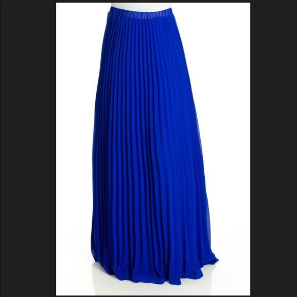 cb05234cf8 Kabayare Skirts | Beautiful Pleated Maxi Skirt Royal Blue | Poshmark