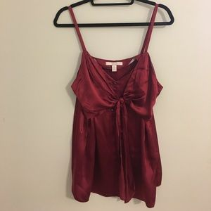 100% silk red camisole