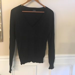 INC BLACK SPARKLE SWEATER