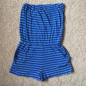 a97dc3e9e1 Forever 21 Swim - Striped Swim Suit Cover Up Romper