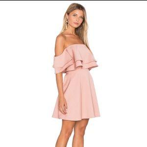 Revolve Keepsake Two Fold Mini Dress in Dusty Pink