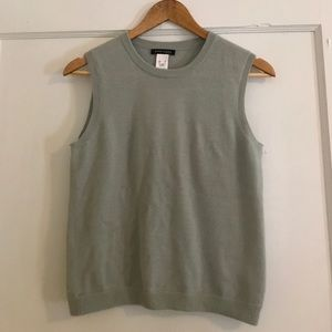 Anne Klein 100% Cashmere French Gray Shell
