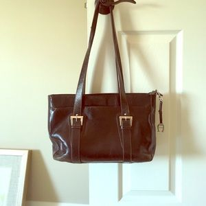 Etienne Aigner handbag, black/brown leather