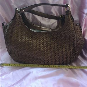 Cole Haan leather Village Weave bronze Large Tote