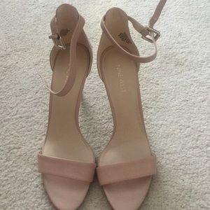 Nine West nude leather sandals 8.5