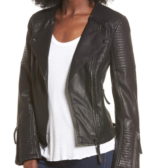 211b0fcd3 Topshop Jackets & Coats | Luna Faux Leather Biker Jacket | Poshmark
