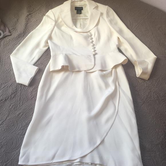 92% off Sutton Studio Jackets & Blazers - White Wedding Skirt Suit ...