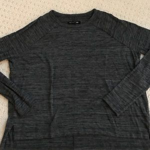 rag and bone black/grey lightweight sweater
