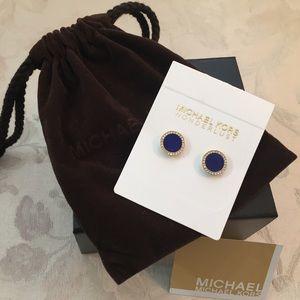 🆕Michael Kors Blue/diamonds pierce earrings