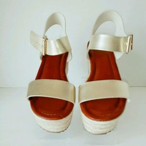 Mossimo Gold Flatform Sandals
