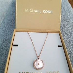 MICHAEL KORS Rose Gold- tone  MK Logo  flat Disc
