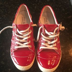 Josef Seibel Patent Red Leather Sneakers Size 38/8